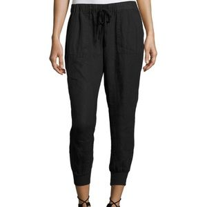 Joie Cynthia Linen Joggers Pants in Grey Small